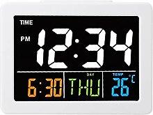 01 Horloge de Table, Horloge à LED réveil