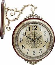 01 Horloge Murale Double Face Vintage, Horloge de