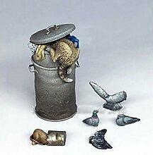 1/35 moderne animaux ensemble accessoires résine