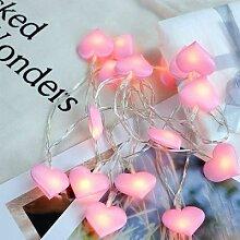 1.5 M/3 M/6 M romantique LED amour coeur chaîne