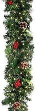 1,8M Guirlande lumineuse sapin artificiel de Noël