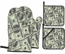 1 gant de cuisine et manique,Billets en dollars de