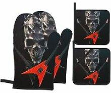 1 gant de cuisine et manique,Heavy Metal - Demon