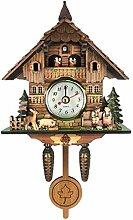 1 horloge coucou créative sculptée à piles en