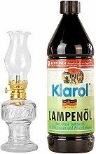 1 lampe à huile en verre avec douille rotative