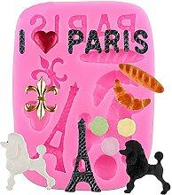 1 moule en silicone sur le thème de Paris -