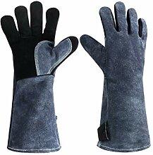 1 paire de gants résistants à la chaleur en cuir