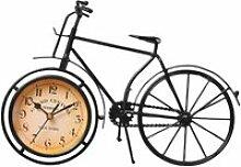 1 pc horloge vélo forme rétro durable fer muet