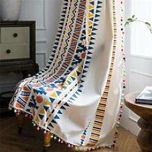 1 rideau, coton américain et lin impression