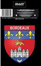 1 Sticker Blason Bordeaux