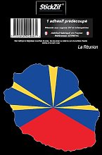 1 Sticker La Reunion - STR974C