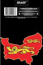 1 Sticker Region Normandie - STR3C