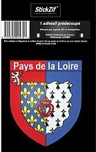 1 Sticker Region Pays de la Loire - STR9B