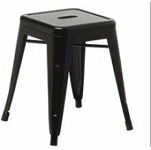 1 x chaise de bar, tabouret de bar hombuy  noir