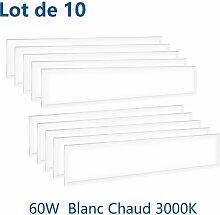 10×Anten 60W Dalle LED Panneau Luminaire LED