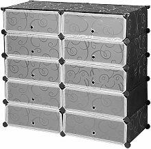10-Cube de Rangement Organiseur en Plastique