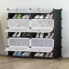 10 Cube Meuble à Chaussures DIY Organisateur