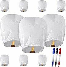 10 Paquets Lanterne Volante Chinoise Lanterne