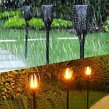 10 PCS LB-S8023 Lampe de jardin solaire Flamme de