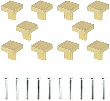10 pcs Tiroir de Porte Poignée 25x25mm Boutons de