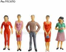 10 pièces en plastique pour personnes modèles,