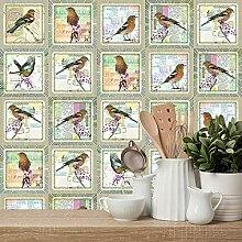 10 Pièces Style Bohème Mosaïque Stickers Muraux