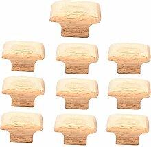 10 poignées de tiroir en bois, armoire de cuisine