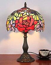 10 pouces vintage pastorale rose vitrail style
