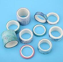 10 Rouleaux/Set Washi Masking Tape Set Ruban