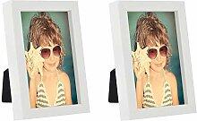 10 x 15 cm Cadre Photo - Paquet de 2, Blanc
