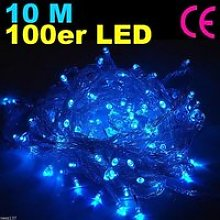 100 LED 10m Bleue Guirlande Electrique Lumineuse