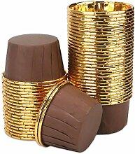 100 pièces Caissettes Cupcakes en Papier, Feuille