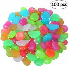 100 pièces pierre lumineuse pierres noctilucentes