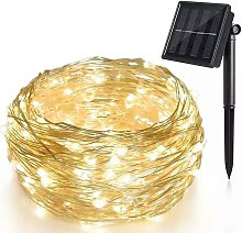 100LED solaire fil de cuivre guirlande lumineuse