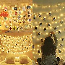 10M 100LED Guirlande Lumineuse Interieur Photo