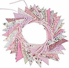10M 36-côté Bruant, Multicolore Floral Tissu