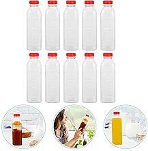 10pcs 500ml bouteilles vides jetables bouteilles