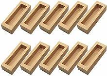 10pcs Kraft Paperboard Boîtes de boulangerie avec