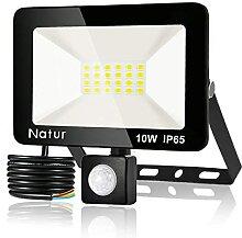 10W LED Projecteur Détecteur de Mouvements, Blanc