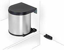 11 Wesco poubelle-argent/noir-poubelle de cuisine