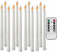 12 Bougies Coniques LED sans Flamme avec Fonction