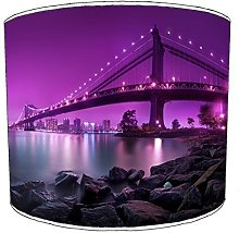12 Inch Ceiling new york purple manhaatan bridge