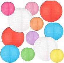 12 paquets de lampion papier lanternes en papier