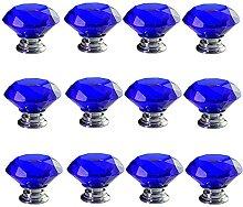 12 PCS 40MM Bleu Cristal Verre Forme De Diamant