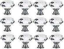 12 PCS 40MM incolore cristal verre diamant forme