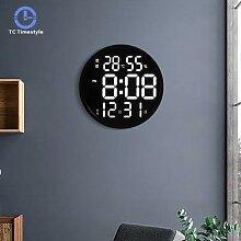 12 pouces LED grand nombre numérique horloge