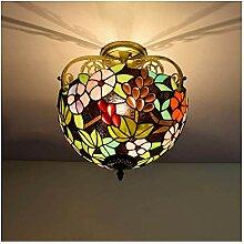 12 Pouces Tiffany Style Lampes de plafond Pastoral