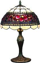 12 pouces vintage vitrail pastoral lampe de table