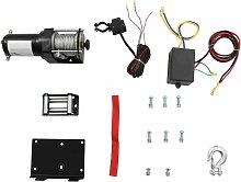 12 V Treuil électrique 1360 KG avec fil et plaque