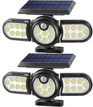 120 Led Spot Solaire Exterieur, 2 Pack Lampes